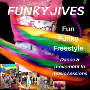 Funky Jives image - fun, funky, freestyle dance and movement to music sessions